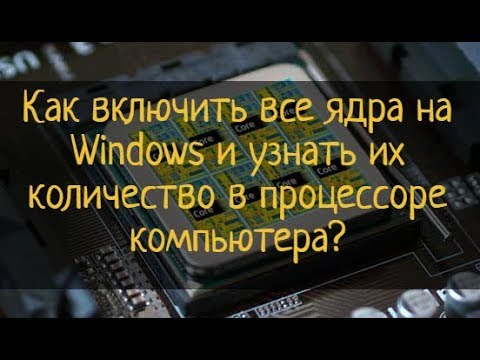Как включить все ядра на Windows и узнать их количество в процессоре компьютера