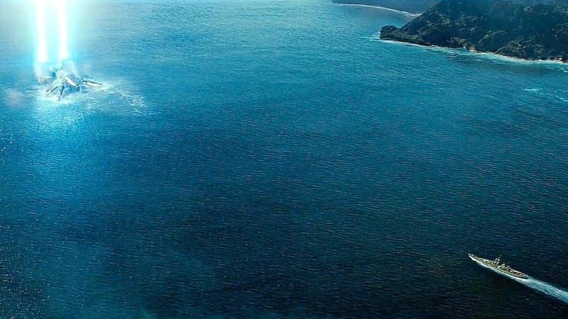 Линкор Миссури против пришельцев Морской бой