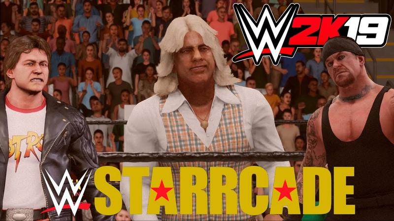 WWE 2K19 - Ric Flair (Рик Флэр) Starrcade 83 - Родди Пайпер и Гробовщик (Русская озвучка) 1