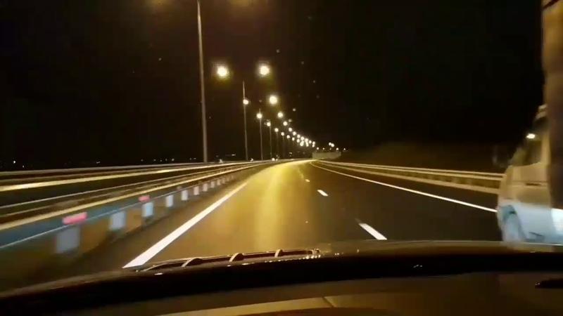 Крымский мост за 2 минуты! Вечером он особо красив!