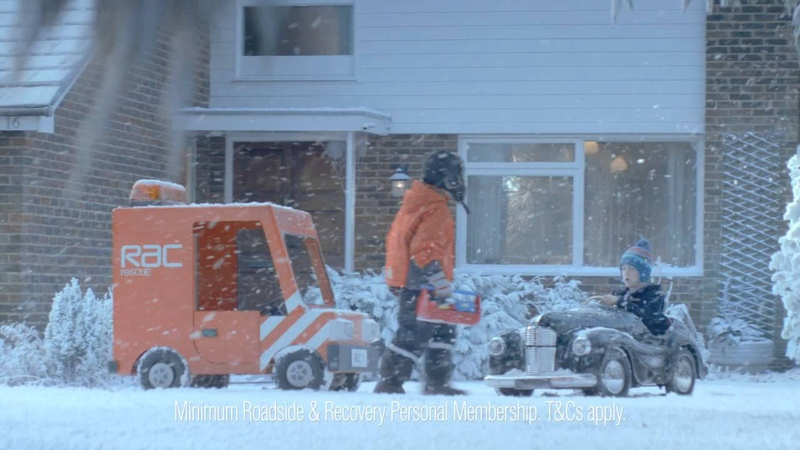 RAC Winter (Christmas) Advert 2012 - Pedal Car