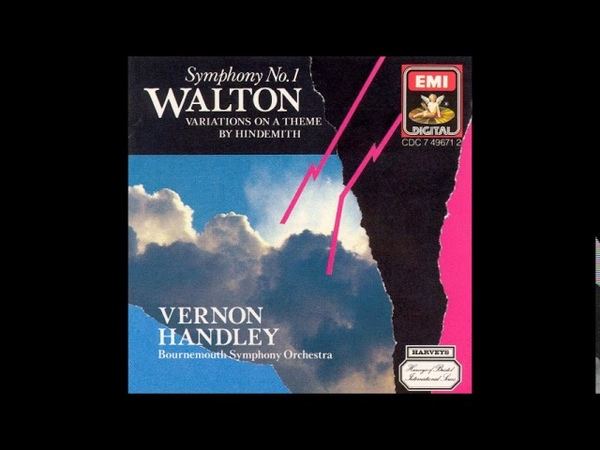 William Walton Variations on a theme of Hindemith for orchestra 1962 63