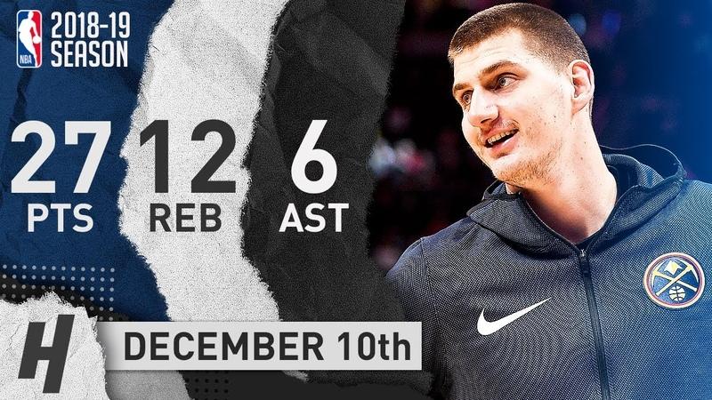 Nikola Jokic Full Highlights Nuggets vs Grizzlies 2018.12.10 - 27 Pts, 12 Reb, 6 Assists