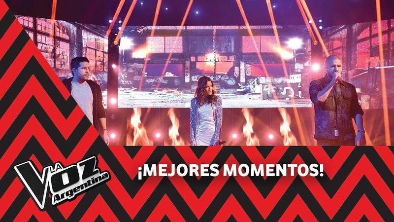 Cali y El Dandee y Tini Stoessel cantan Por que te vas La Voz Argentina 2018