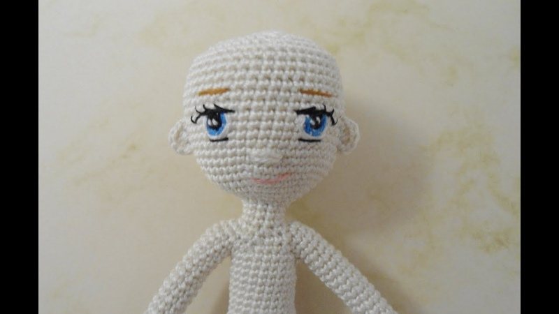 Little doll crochet /Miniature doll crochet/ Part 2 /head and embroidery eyes