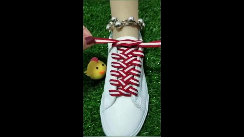Учимся красиво завязывать шнурки