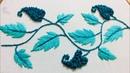 Hand embroidery borderline design by nakshi design art