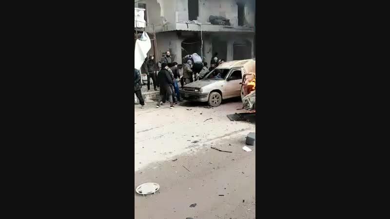 Взрыв автомобиля в г Африн Сирия