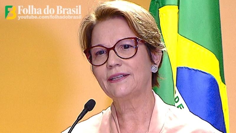 Discurso de Posse da Ministra da Agricultura TEREZA CRISTINA - Governo Bolsonaro