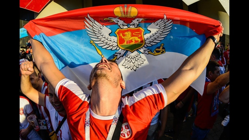 Serbian fans on their way to the stadium for a match with Brazil. WORLD CUP-18. 27.06.18