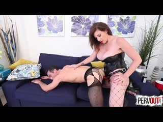Теща трахнула страпоном зятя в чулках Son in Law Feminized and Ass Fucked by Sara Jay [strapon, femdom, mistress, BDSM