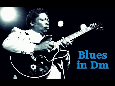 Blues Backing Track BB King Style in D Minor 110 bpm