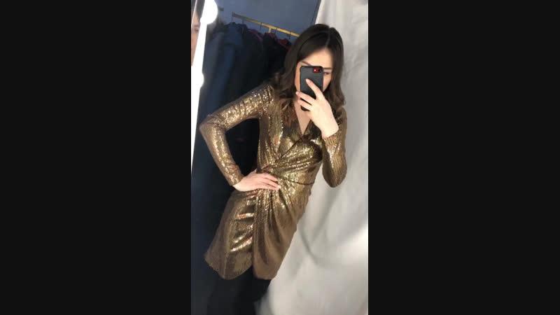 Платье золотое из пайеток