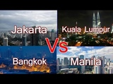 Capital City !!!! Manila Vs Bangkok Vs Kuala Lumpur Vs Jakarta ....NEW !!!!