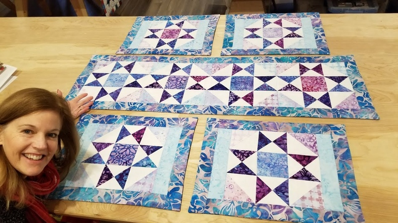 Donna's FREE PATTERN! 2 Charm Packs = 4 Placemats AND Table Runner!