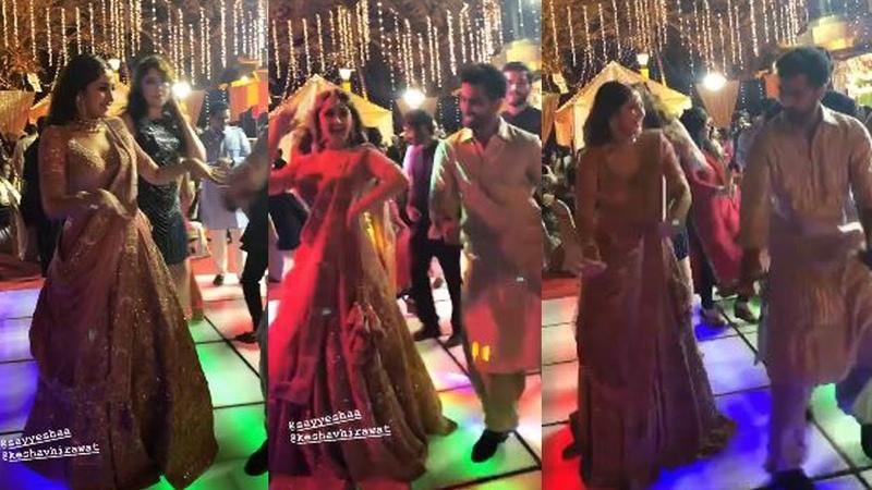 Actress Sayesha dances at her Sangeet Ceremony | Arya Sayesha Marriage | Gup Chup Masthi