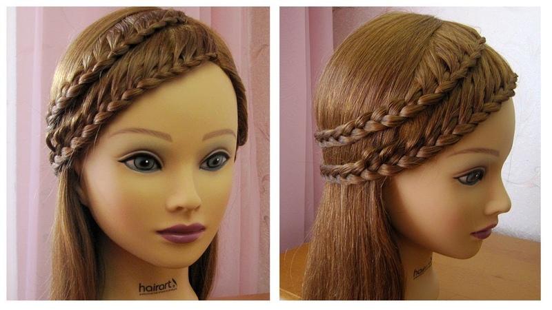 Belle coiffure facile à faire cheveux long/mi long 💎 Coiffure avec tresse 💎 simple et rapide