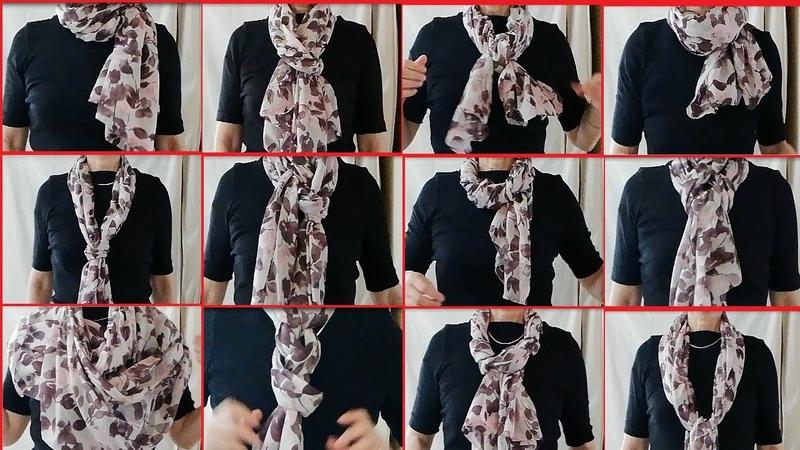 ♥これさえ見ればストールの巻き方は簡単ダイジェスト16 16 ways to tie a oblong scarf