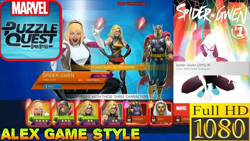 Spider-Gwen - Gwen Stacy - Super abilities - Marvel Puzzle Quest - Heroes in Video Games