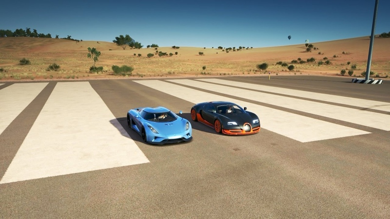 Koenigsegg REGERA vs Bugatti VEYRON SS Drag Race   Forza Horizon 3