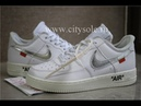 God Nike Air Force 1 Off White Virgil Abloh Complexcon White Retail Materails Ready from