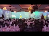 360 Projection Mapping in a Ballroom