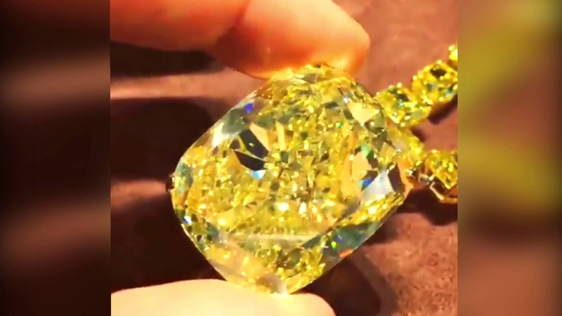 Graff Diamonds The Golden Empress, a 132.55 carat cushion-cut Fancy Intense yellow diamond