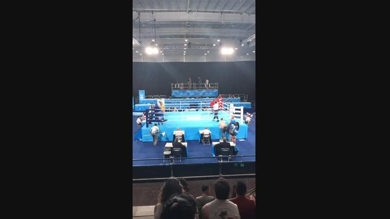 Руслан Колесников - Тимур Мержанов (Узбекистан). Полуфинал Юношеской ОЛимпиады