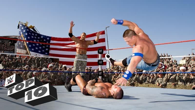 [WWE QTV]☆[Top 10]Tribute to the Troops Team-ups]