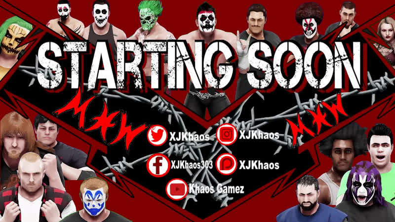 MXW Tuesday Night TerrorZone TV -Comment To Enter For A Chance To Be On The MXW Roster!! - WWE 2K19