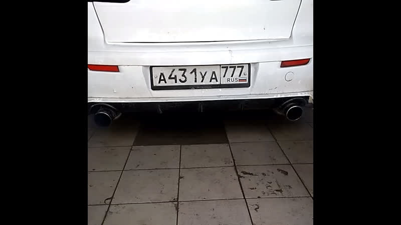 Звук выхлопа Mitsubishi Lancer X