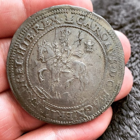 The huge and impressive 1642 Charles I Half Pound struck at the Oxford Mint in the years 1642 and 1643 during the