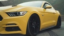 First 2015 Bagged Triple Yellow Mustang on Project 6GR 10 TEN Spun Forged Wheels