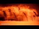 Испытание атомной бомбы Смотри как все сгорает на пути ее взрыва!