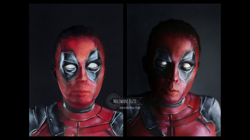 Deadpool face painting / make up tutorial
