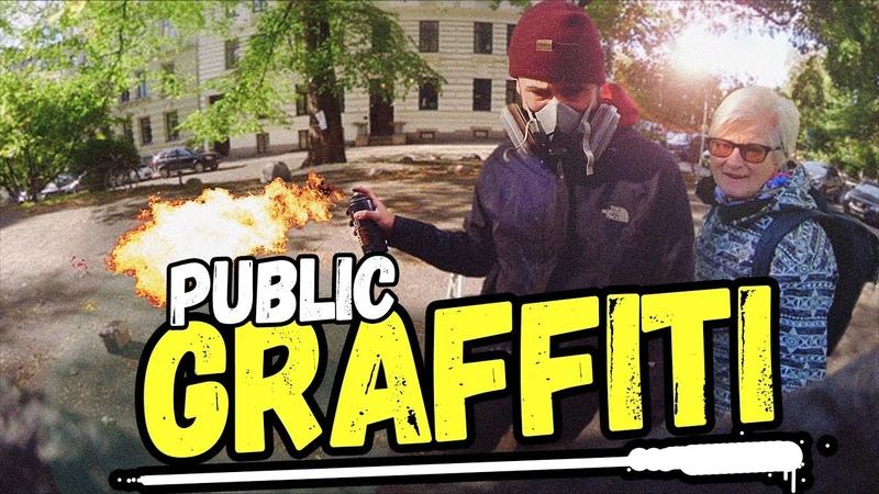 RING POLITIET! (JEG MALER GRAFFITI I OSLO) | GoPro | POV | BOMBING