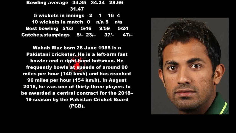 Wahab Riaz Pakistani Cricketer Biography With Detail