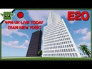Minecraft City Building Live 20 - City Hall, Library and more planning!