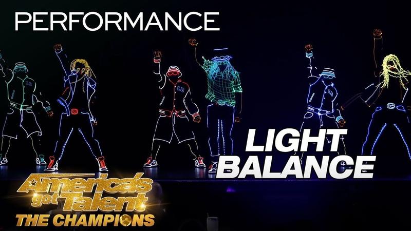 Light Balance Makes EPIC Return With LIT Dance - America's Got Talent: The Champions