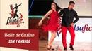 💃 Coreografía de Baile de Casino Hoy Quiero Fiesta: Sam y Amando - FIESTA CUBANA   Salsafición