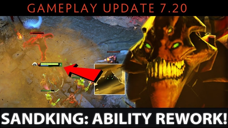 Dota 2 NEW 7.20 Patch - Sand King: Ability Rework - Stun in Sandstorm without getting revealed?!