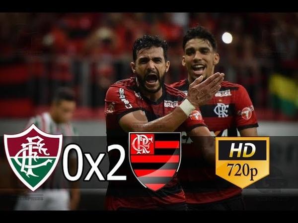 Fluminense 0 x 2 Flamengo (HD) Melhores Momentos e Gols -Brasileirão 07/06/2018