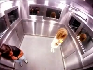 Страшный розыгрыш в лифте (Бразилия).
