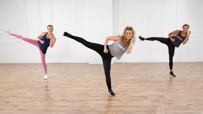 Eliza Shirazi - No-Equipment Cardio Kickboxing Workout | Интервальная тренировка без инвентаря