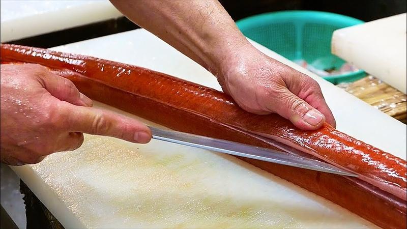 Japanese Street Food RED CORNET FISH Sashimi Japan Okinawa Seafood