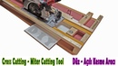 How to make Circular Saw Cross - Miter Cutting Station