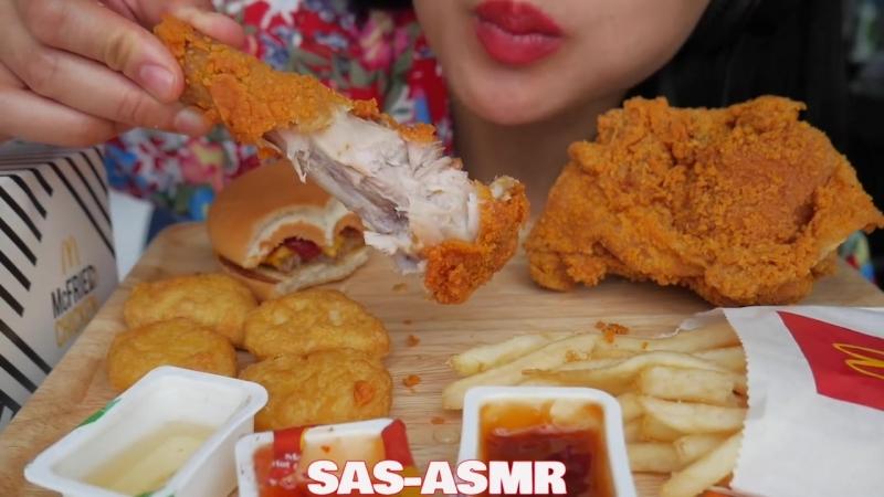 [SAS-ASMR] ASMR McDonalds *Thailand (Spicy Fried Chicken Chicken Nuggets) EATING SOUNDS NO TALKING   SAS-ASMR