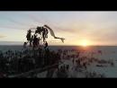 Burning Man 2018. Aerial view - 4k