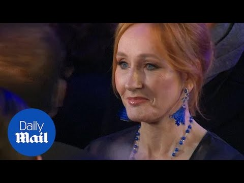 JK Rowling joins the cast of Fantastic Beasts at London premiere