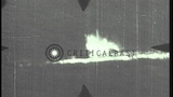 Several shots of German U boats being strafed in the Atlantic Ocean during World ...HD Stock Footage